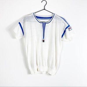 Vintage Fila 70's Classic Tennis Fine Knit Top